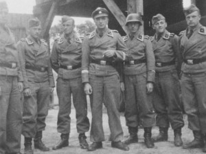 SS-Unterscharführer Wittmann (second from the left) and colleagues in June 1941, shortly before the invasion of the Soviet Union