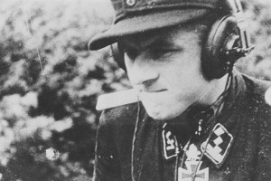 One of the last images of a determined looking Michael Wittmann in the days before his death near Gaumesnil