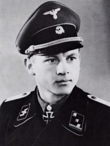 A studio portrait of SS-Obersturmbannführer Michael Wittmann in 1944, winner of the Knight's Cross with Oakleaves