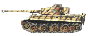 Wittmann's Tiger 1331 as leader of the IIIrd Platoon