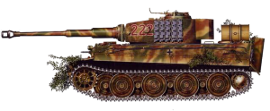 Kurt Sowa's Tiger 222, comandeered by Wittmann at Villers-Bocage
