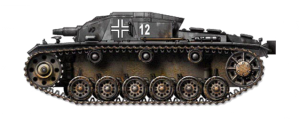 A Sturmgeschütz (StuG.) III Ausf. A, similar to the one commanded by Michael Wittmann on his first assignment on the Eastern Front