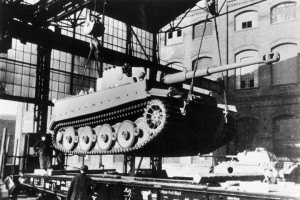 A freshly-built Tiger I is almost ready to roll at the Henschel factory