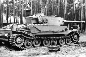 The pre-production Porsche Tiger I prototype. Note the advanced positioning of the turret