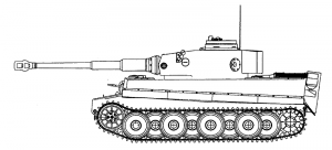 Pz. Kfw. VI Tiger I Ausf. H/E, side profile