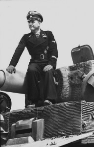 Michael Wittmann photographed atop his Tiger in May 1944, a month before the attack on Villers-Bocage that would his enhance reputation even further