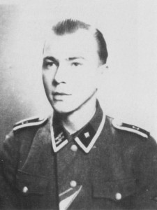 Accompanying Brandt to Hill 213 was SS-Untersturmführer Georg Hantusch, seen here a few years earlier as an SS-Unterscharführer