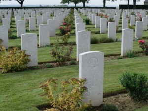 The Canadian cemetery at Bretteville-sur-Laize just north of Cintheaux and in the vicinity of Gaumesnil