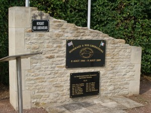 The recent memorial dedicated to the 1st Northamptonshire Yeomanry close to St. Aignan de Crasmenil
