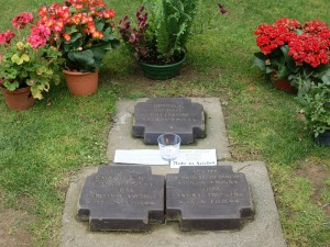 The grave of Michael Wittmann and his crew at La Cambe, Normandy