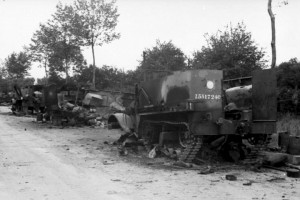 The sight of the road littered with the burnt out carcasses of British vehicles would give the German propaganda machine a field day