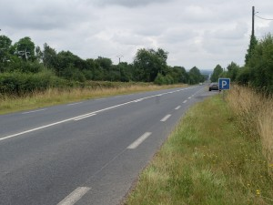 The small parking bay by the side of the D 675, formerly the N 175 towards Point 213. Michael Wittmann's Tiger would roll down this road towards Villers-Bocage