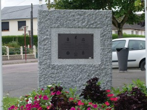 The memorial to the Allied formations on Boulevard du 13 Juin 1944, just beyond the Tilly Junction
