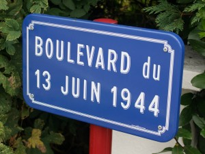 The postwar road commemorating the battle, Boulevard du 13 Juin 1944