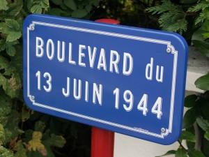 The postwar road commemorating the battle, Boulevard du 13 Juin 1944