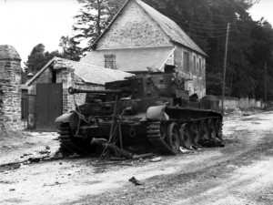 Pat Dyas' knocked-out Cromwell on the Rue Georges Clemenceau