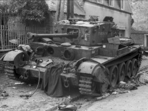 RSM Gerald Holloway's Cromwell on the Rue Georges Clemenceau